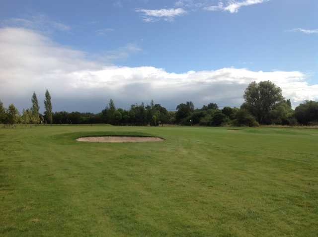 A scenic view of the 2nd green at South Cerney Golf Club