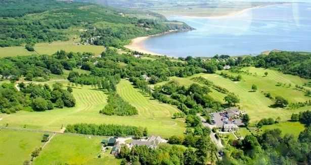 Colvend Golf Club: Aerial View