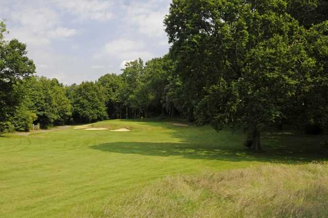 View from the rough and the 13th green Shirley Park Golf Club