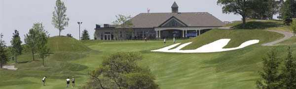 View of the finishing hole at Rebel Creek Golf Club