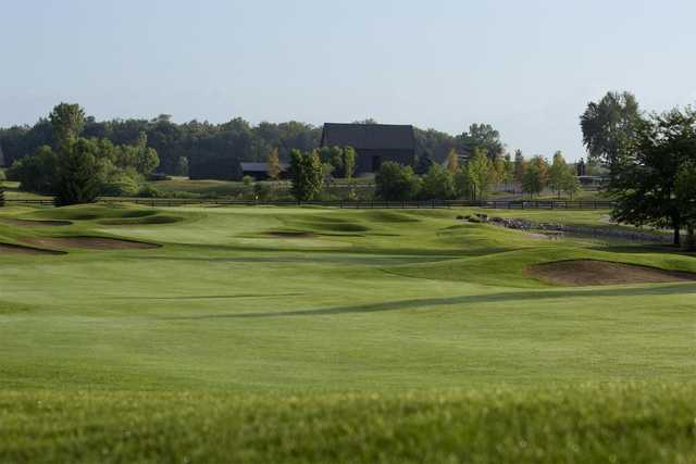 View of the 18th green at Wood Wind Golf Club
