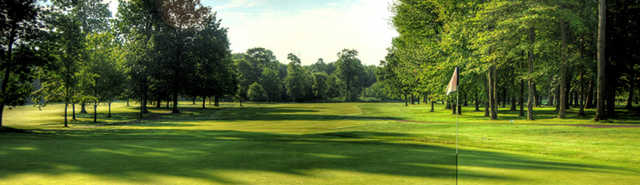 A view of the 9th hole at Windmill Lakes Golf Club.