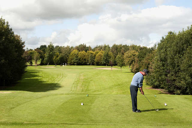 Teeing off at the 5th at Rathdowney Golf Club