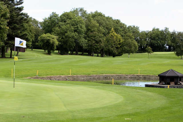 View of the 12th green at Forrest Little Golf Club