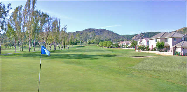View of the first green at Castle Creek Golf Club