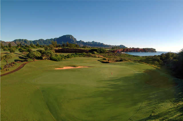 View of the 17th hole at Poipu Bay Golf Course