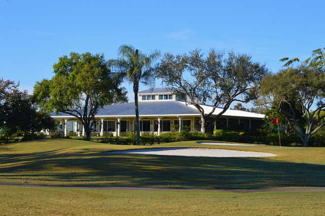 View of the clubhouse at Village Golf Course