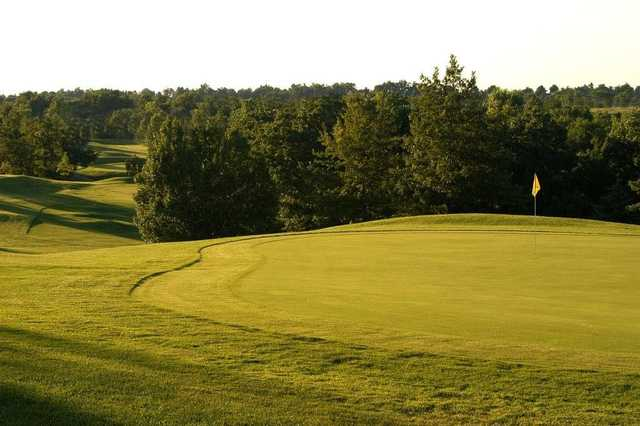 View of a green at Teetering Rocks Golf Course