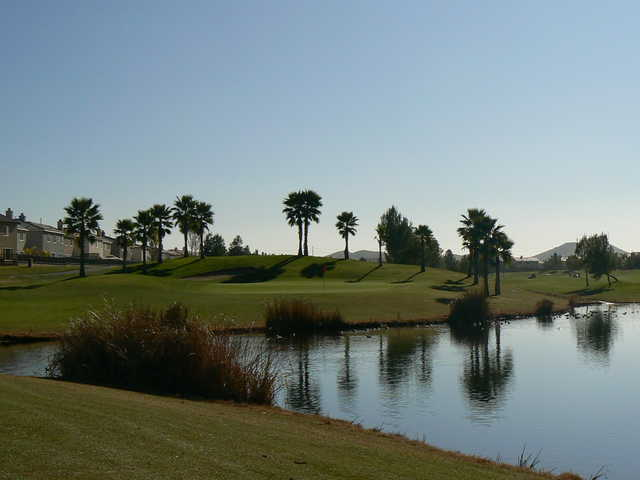 View of a green at Menifee Lakes Country Club