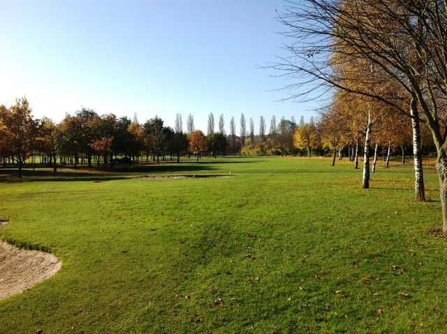 A view down the fairway at Calderfields
