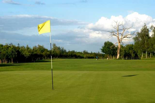 A greenside view of a fairway at Waterstock GC