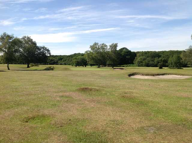 A view of the 12th approach at New Forest Golf Club
