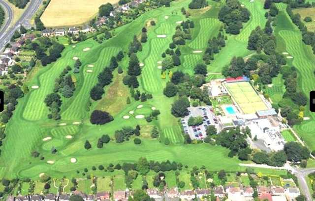 Aerial view of the Exeter Golf Course