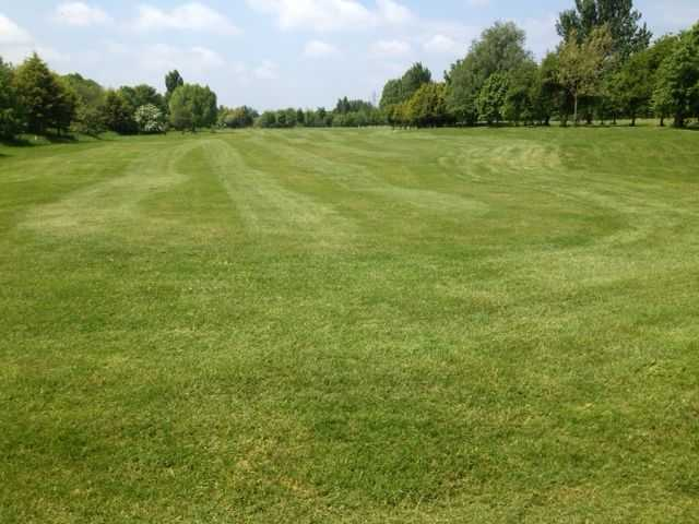 Groomed fairway at Iver Golf Club