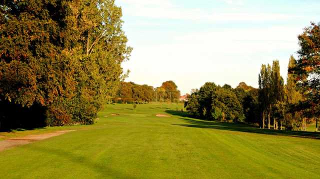 Tree lined fairway at Bowring Golf Club