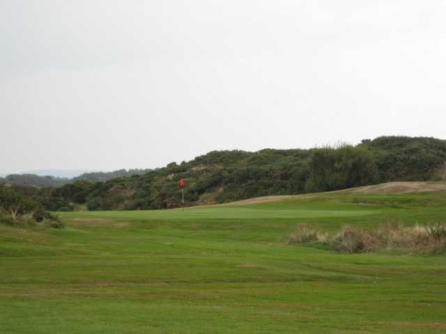 View of the 14th green at Holyhead Golf Club
