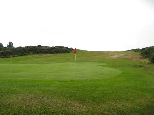 The 17th green at Holyhead Golf Club