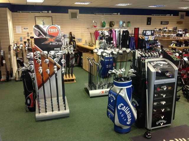 Pro shop interior, The Oaks Golf Centre