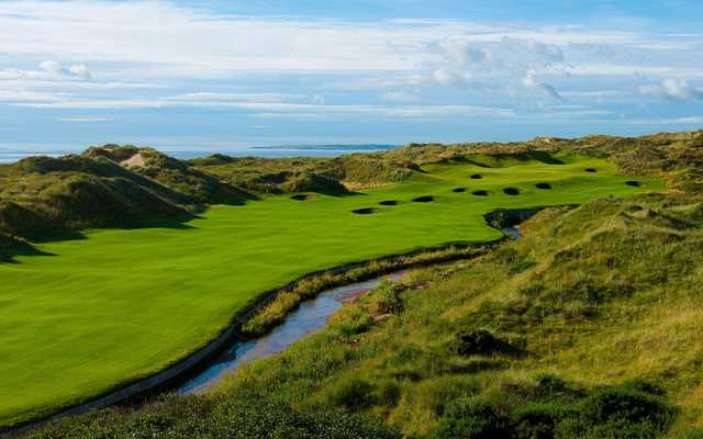 An example of the strategic bunkering at the Trump International Golf Links