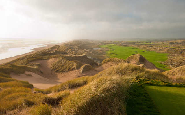 The wonderful dunes at the Trump International Golf Links