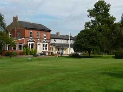Small green on the 9th at Heworth Golf Club, York