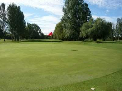 Beautifully manicured green on the 13th hole at Heworth