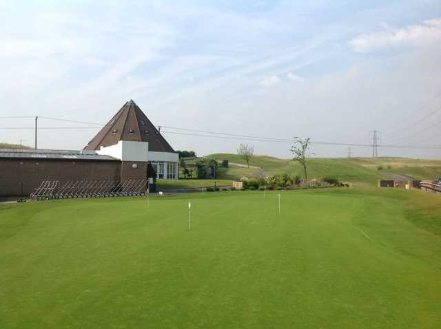The well kept putting green at Pedham Place