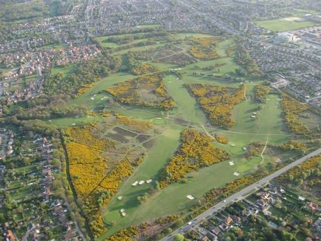 Aerial view of Rushmere golf course
