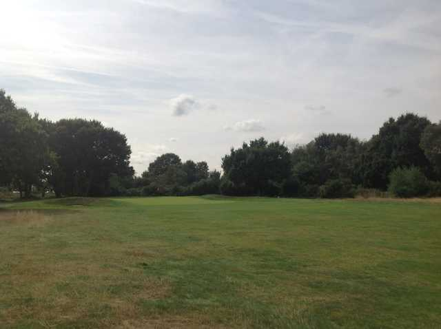 View of the 10th green and bunker at Rushmere Golf Club