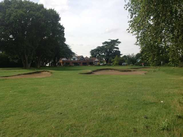 View of the 18th green and clubhouse at Rushmere Golf Club
