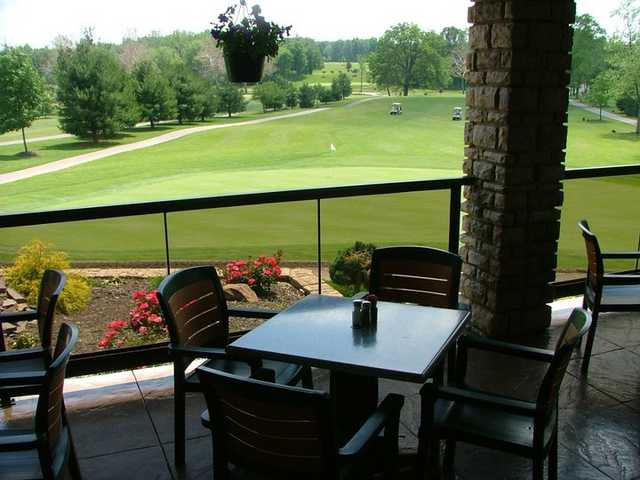 A view from the clubhouse terrace at Coppertop Golf Club