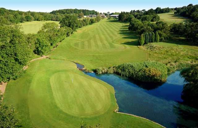 The 1st fairway at Dainton Park Golf Club