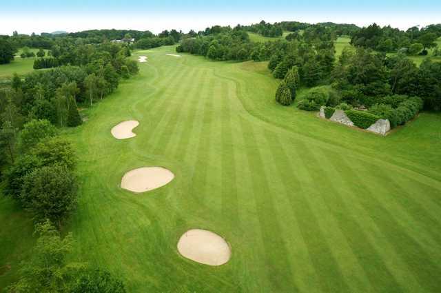 The 3rd green at Dainton Park Golf Club