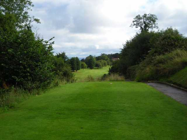 Elevated tee at Holywood Golf Club