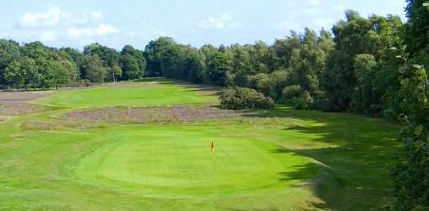 Tight green and tough approach to the 12th green at Piltdown