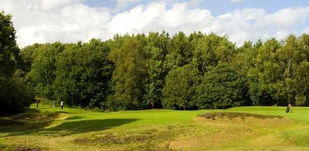 The 15th green at Piltdown Golf Club