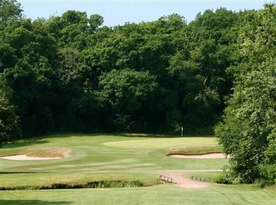 The 9th green at Cardiff Golf Club