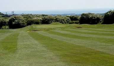 View down the 3rd fairway at Dyke Golf Club