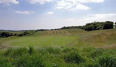 Back of the green at the excellent 4th hole from Dyke Golf Club