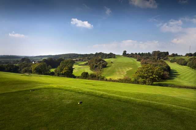 Looking out from the 1st tee at Wenvoe Castle Golf Club