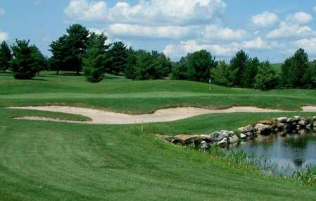 A view of a green from  Tom's Run at Chestnut Ridge Golf Resort & Conference Center.