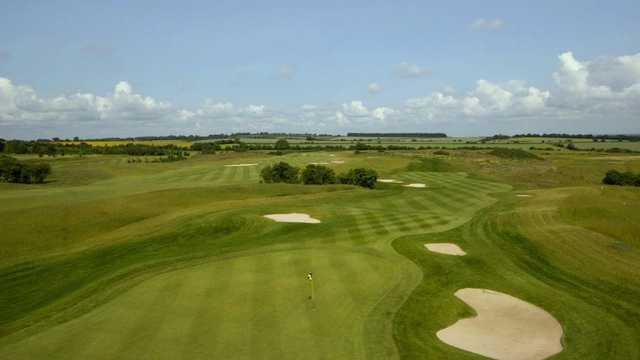 Stunning view back down the tough finishing hole at Weybrook Park