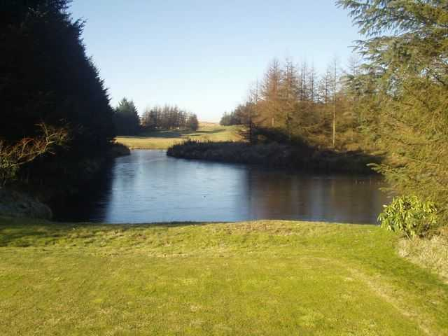 One of the course's water hazards