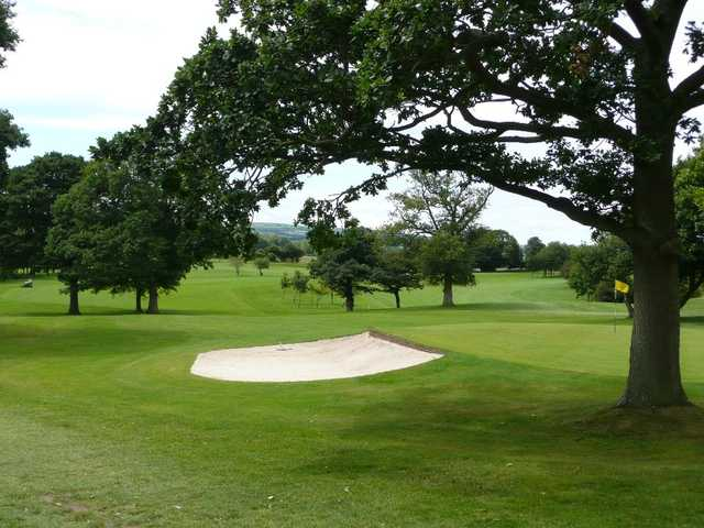 View down the fairway from the green at Denbigh