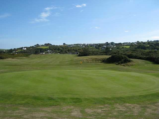 5th green at Abersoch GC