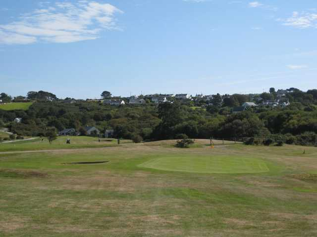 A view of the third green at Abersoch GC