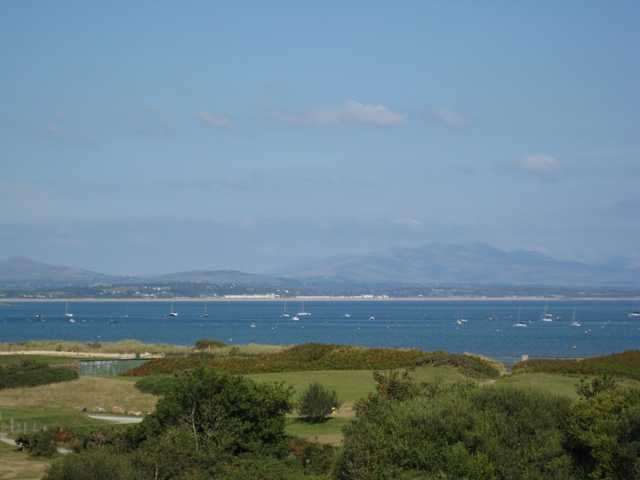 The stunning from the third tee overlooking the sea at Abersoch