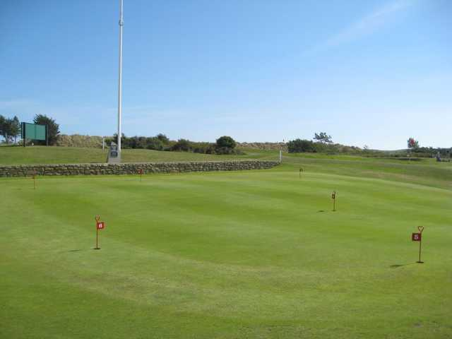 The putting green at Abersoch GC