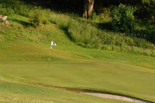Tricky, undulating greens to make putts on