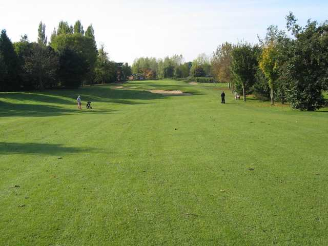 The sweeping long 18th fairway at Humberstone Heights